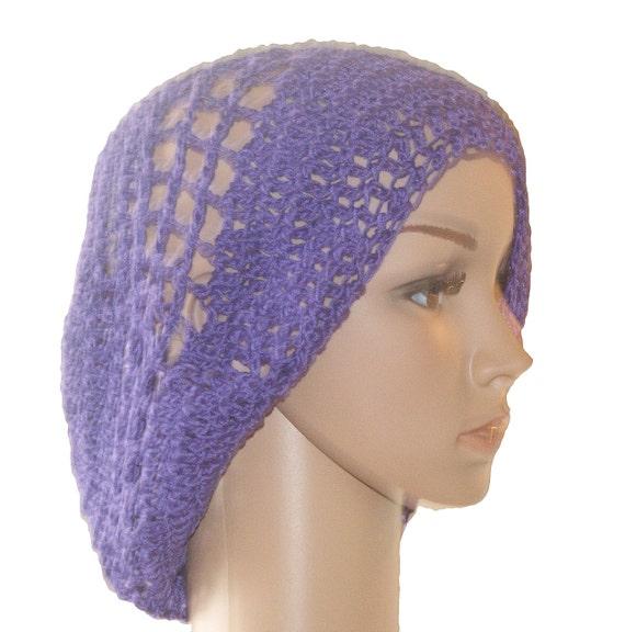 0b0cdc5641e Womans Crochet Hat Cotton Ladies Hat Purple Hat Summer