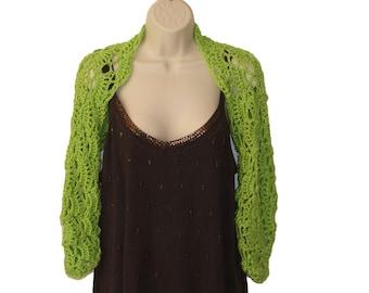 Green Shrug, Womens Plus Size, Lime Green Clothing, Plus Size Shrug,Trendy Plus Size, Long Sleeve Shrug, Plus Size Clothing, Trendy Shrug