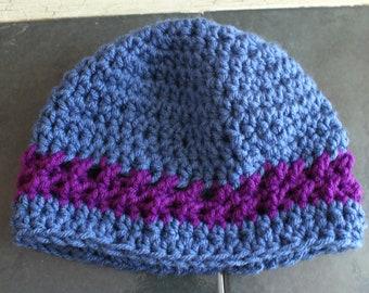 Blue Baby Cap, Crochet Baby Cloche, Baby Sock Cap, Infant Beanie, Baby Winter Hat, Baby Snow Hat, Crochet Baby Cap, Babies Hats