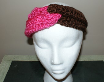 Womens Fashion Hairband, Earwarmer Headband, Pink Headband, Knot Headband, Turban Twist Headband, Yoga Hairband, Workout Headband