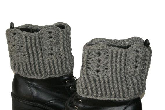 Puños de bota para mujer, tallas grandes de arranque puños, puños de arranque, arranque calcetines, puños de arranque gris, mujeres pierna