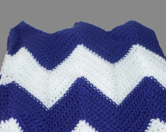 Chevron Baby Blanket, Chevron Afghan, Ripple Afghan, Purple Baby Blanket, Custom Blanket, Baby Cover, Crib Blanket, Purple Afghan