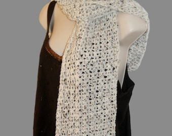 Crochet Scarf, Neckwarmer, Neck Scarf, Oatmeal Scarf, Man Scarf, Womens Neck Wrap, Woman Scarf, Beige Scarf, Long Scarf, Winter Scarf