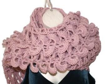 Bridal Shawl, Shawl Wrap, Pink Shawl, Crochet Wrap, Elegant Shawl, Spring Wrap, Formal Shawl, Womens Stole, Bride Shawl, Pink Wrap