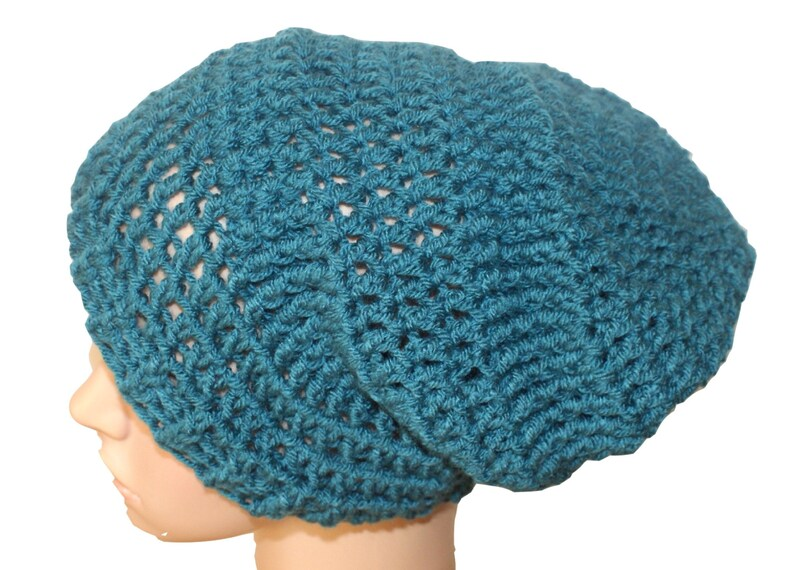 Teal Winter Hat Teal Hat Womens Crochet Hat Teal Slouch  255136cf4f7