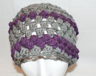 1920s Hat, Winter Fashion Hat, Gray Crochet Hat, Womens Gray Hat, Womens Fashion Hat, Vintage Style Cloche, Gray Hat, Gray Cloche