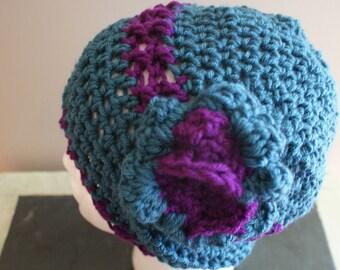 Womens Beanie, Slouch Hat, Slouchy Cap, Winter Fashion Hat, Blue Womens Hat, Snow Cloche, Womens Fashion Hat, Teal Cap, Womens Winter