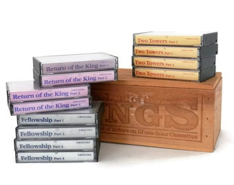 1979 Lord of the Rings by JRR Tolkien Box Cassette Tape Set In the Mind's Eye by Jabberwocky