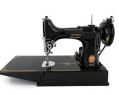 Singer Featherweight Sewing Machine Model 221-1 Portable Electric with Accessories