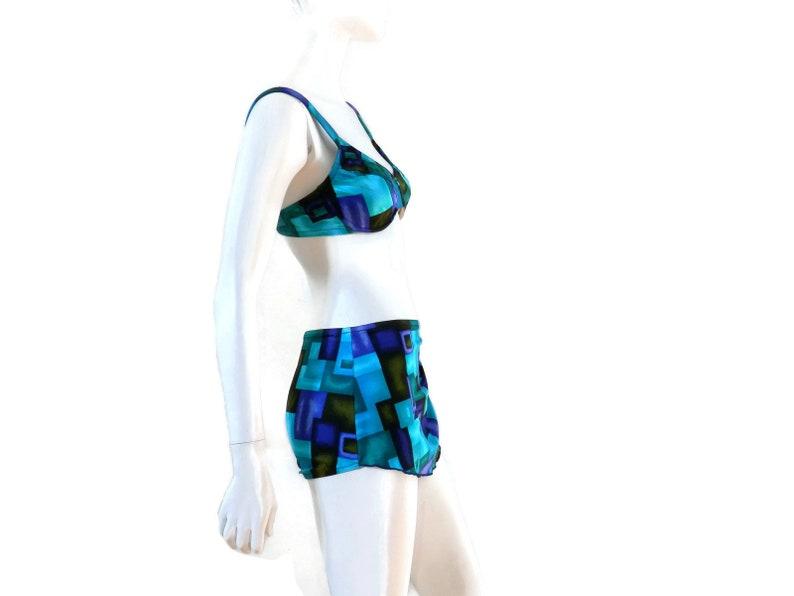 449a4262973 NOS Bombshell Sarong Bikini Skirted Swimsuit by Roxanne   Etsy