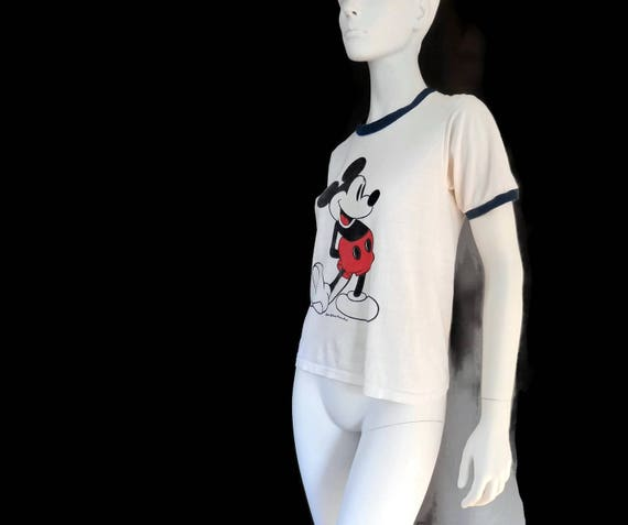 Small Mouse Rare era Collectible sz Shirt Mickey Unisex T Walt 1970's Disney t8U8wR