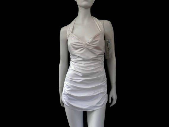 a88492a05184 Esther Williams Swimsuit White 1 pc Bathing Suit Vintage