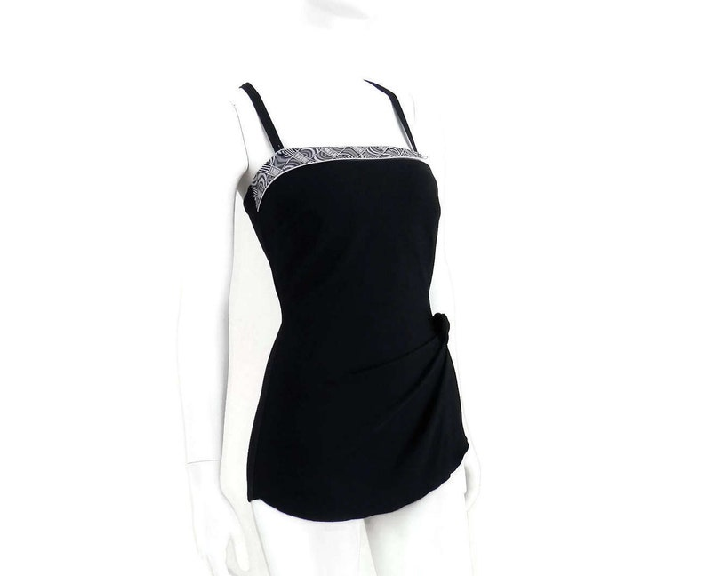 ee2faea83b9 NEW Bombshell Skirted Swimsuit by Roxanne Bandeau Sarong Black   Etsy