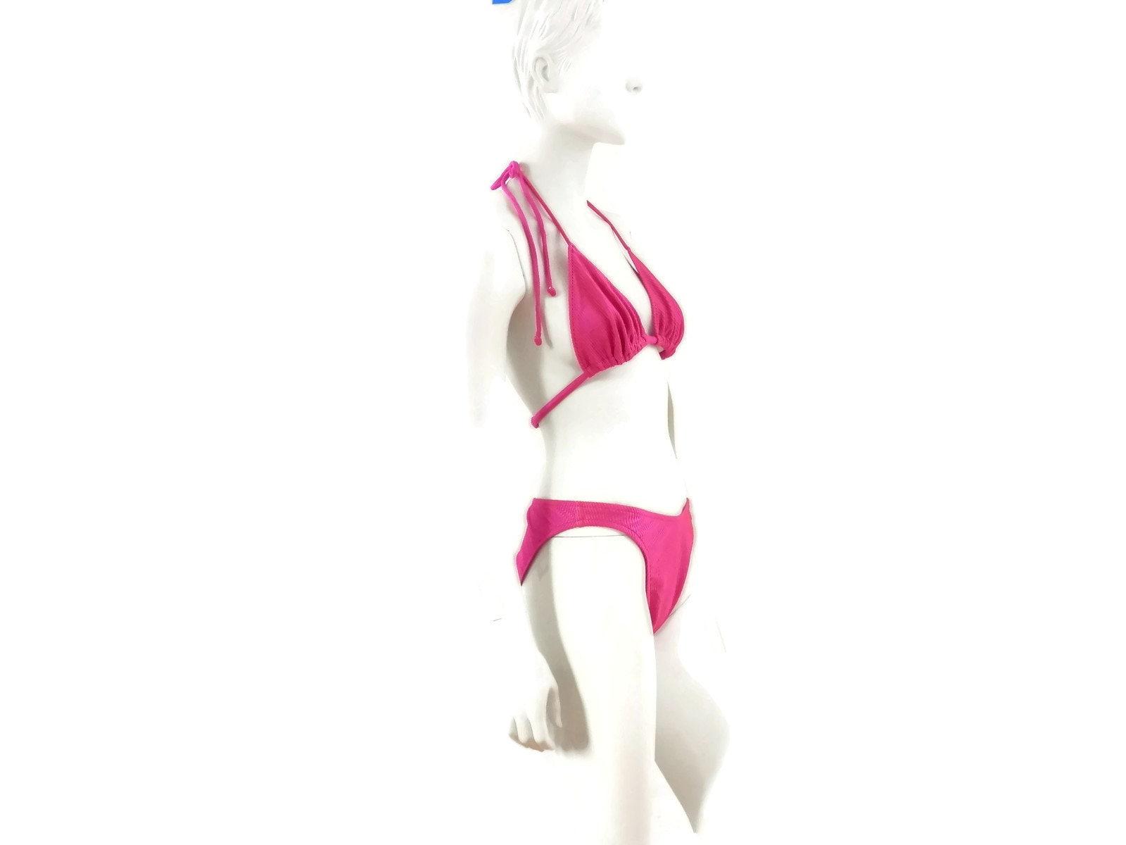 f4178909d8a Jantzen Hot Pink Bikini Two Piece Bathing Suit Vintage | Etsy