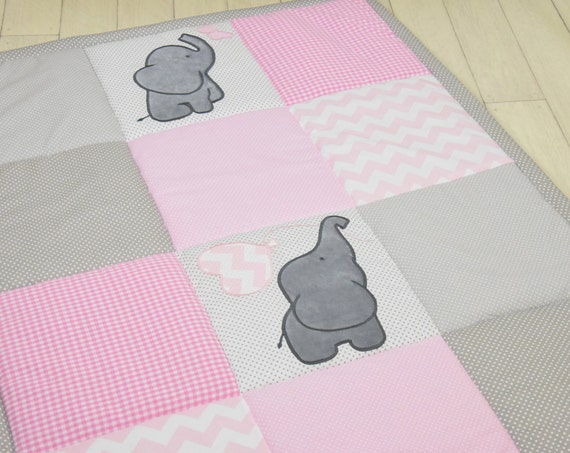Pink Baby Rug, Girl Play Mat, Activity Mat, Baby Playmat, Padded Mat,  Travel Play Mat, Personalized Playmat, Custom Baby Mat,