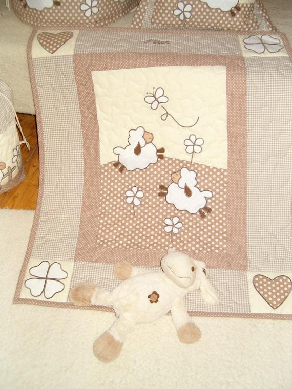 Baby Blanket, Unisex Baby Blanket, Gender Neutral Crib Blanket, Boy Nusery Decor, Girl Blanket, Beige Cream