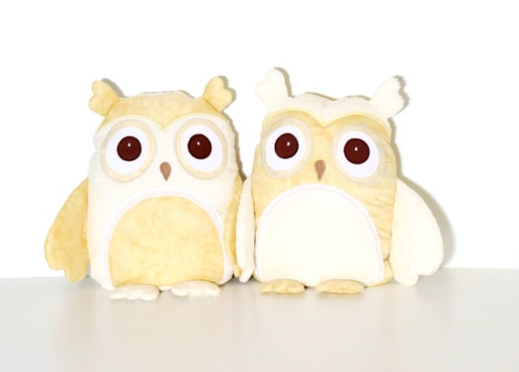 Best Friends gift Owl Besties stuffed pillow in cream.BFF gift Besties best friends owl in cream are the perfect way to celebrate friendship