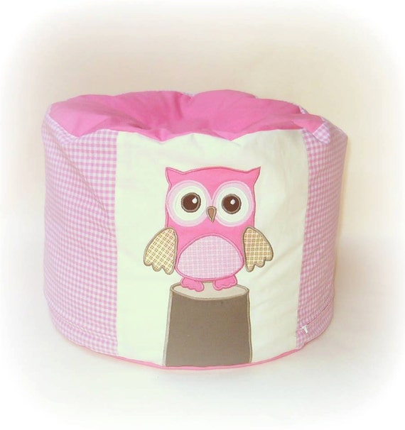 Toddler Beanbag,  Chair, Furniture, Pouf, Owl Home Decor