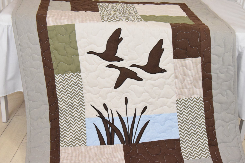 Duck Baby Quilt Hunting Theme Crib Bedding Hunter Nursery