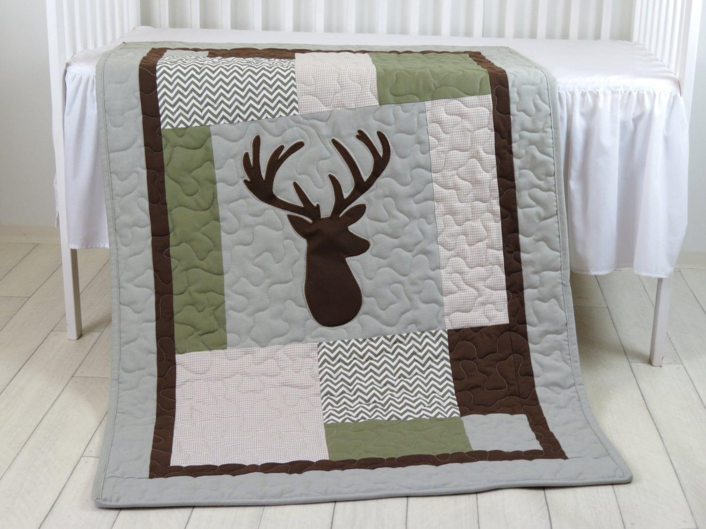 Deer Crib Bedding Deer Crib Quilt Deer Baby Blanket