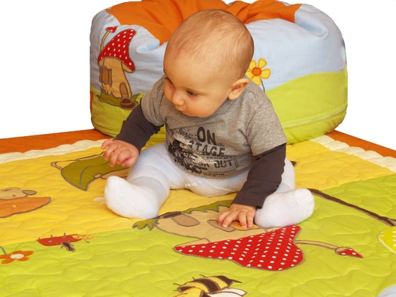 Baby  Playmat, Security Blanket, Play Carpet - Lap Quilt, Crib Blanket- HET