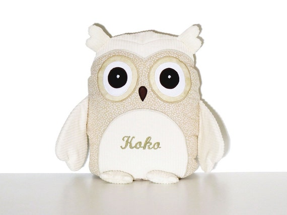 Nursery Owl Decor, Eco Friendly Owl, Decorative Owl Pillow