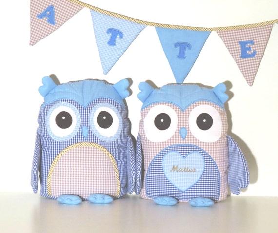 Owl Room Decor, Owl Decor, Decorative Owl, Personalized Owl Pillow