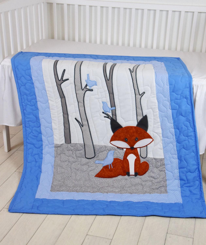 Fuchs Decke Wald Kindergarten Decke Baby Boy Quilt junge