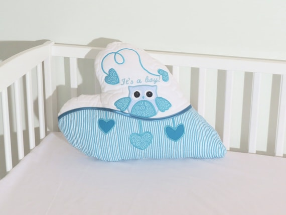 Love Pillow,  Heart Pillow Cover, Throw Pillow, Quote Pillow, Nursery Room Decorations, Personalized  Owl Pillow