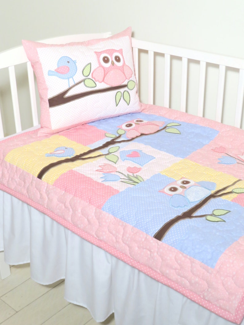 Babydecke Eule Steppdecke Decke Baby Bettwäsche Eule Etsy