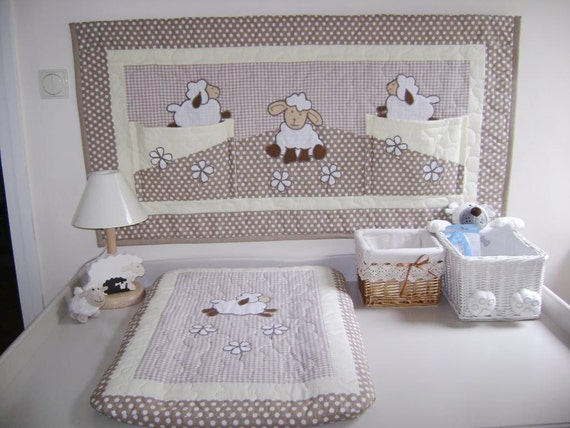 Changing Wall Organizer for Nursery, Baby's room organization, Diaper changing table organizer