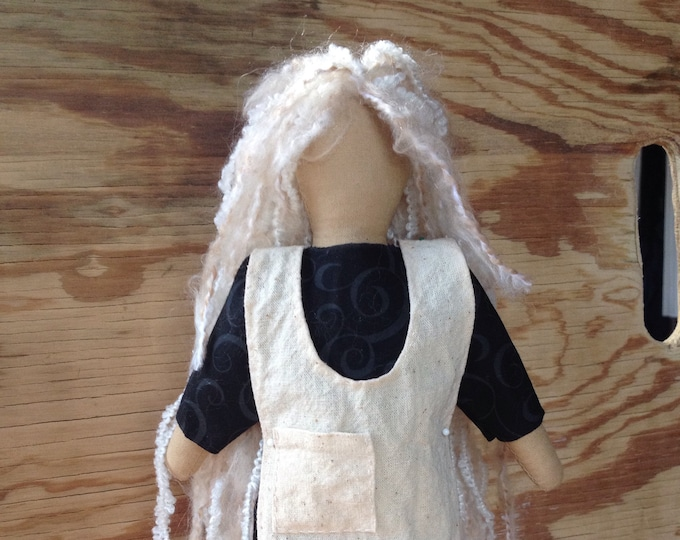 Native American Made Cloth Doll with Apron