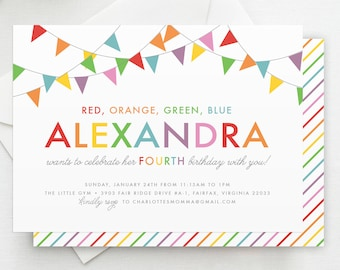Kids Party Invite Etsy - Childrens party invites templates