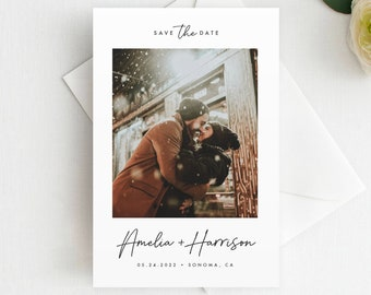 Printed  Photo Save the Date Magnet, Postcard, Flat Card, Photo Save the Date, Photo Wedding Magnet, Wedding Save the Date