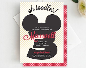 minnie mouse twodles birthday invitation twodles invite etsy