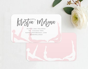 876861e6a8f Pilates or Yoga Business Card INSTANT DOWNLOAD Pilates Studio Card, Contact  Card, Printable, Yoga Studio Business Card, Yoga Business Card