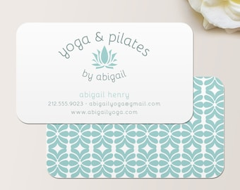 Chevron business card calling card mommy card contact yoga instructor or pilates instructor business card calling card mommy card contact card calling cards modern business cards colourmoves