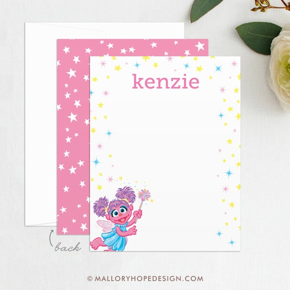 Abby Cadabby Stationery Abby Cadabby Thank You Abby Cadabby Birthday Invitation Abby Thank You Digital File Template Instant Download