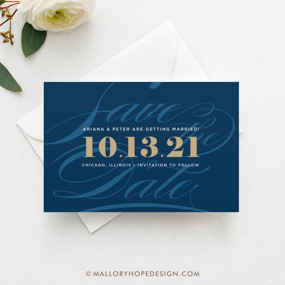 stylish script save the date postcard magnet flat card etsy