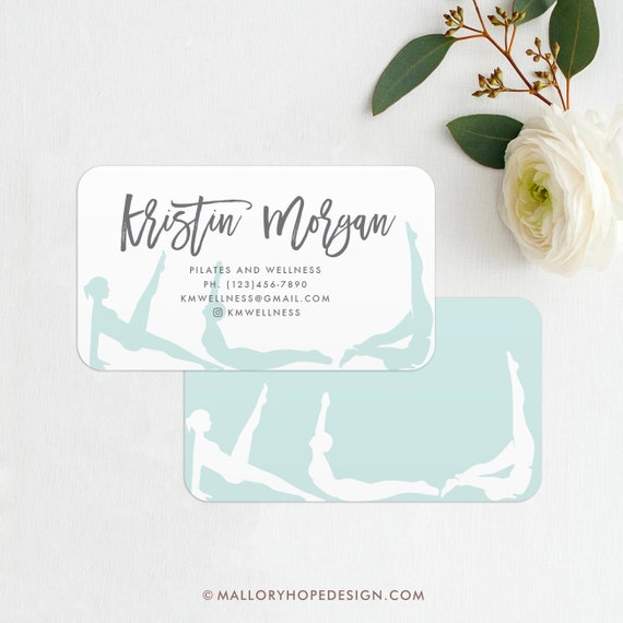 Yoga Instructor Or Pilates Instructor Business Card Printed Etsy