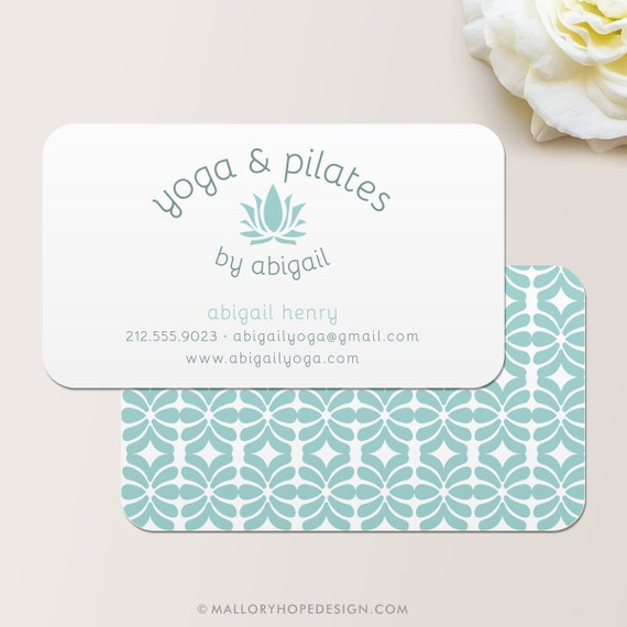 Yoga Instructor Or Pilates Instructor Business Card Calling Etsy