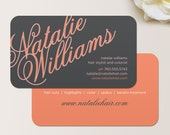 Elegant Name Business Card / Calling Card / Mommy Card / Contact Card - Hair Stylist Business Card, Salon, Event Planner Business Cards