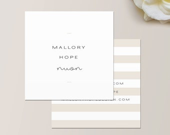 Minimal Business Card / Calling Card / Mommy Card / Contact Card - Interior Designer, Calling Cards, Business Cards, Modern Business Cards