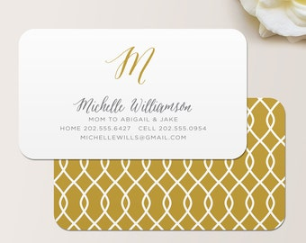 Ribbon Business Card / Calling Card / Mommy Card / Contact Card - Interior Designer, Calling Cards, Business Cards, Modern Business Cards