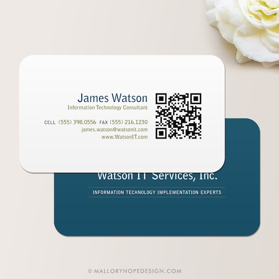 Qr Code Consultant Business Card Calling Card Mommy Card Etsy