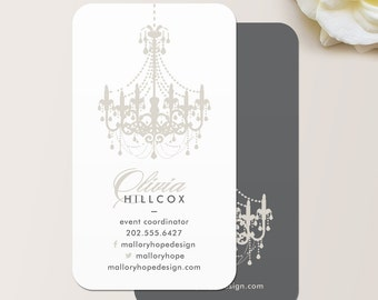 Chandelier Business Card / Calling Card / Mommy Card / Contact Card - Interior Designer, Event Planner, Calling Cards, Business Cards