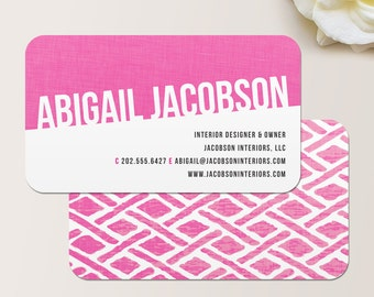 Fabric Business Card / Calling Card / Mommy Card / Contact Card - Interior Designer, Calling Cards, Business Cards, Modern Business Cards