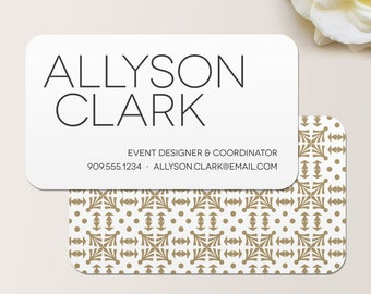 Bold Name Business Card / Calling Card / Mommy Card / Contact Card - Interior Designer, Calling Cards, Business Cards, Modern Business Cards