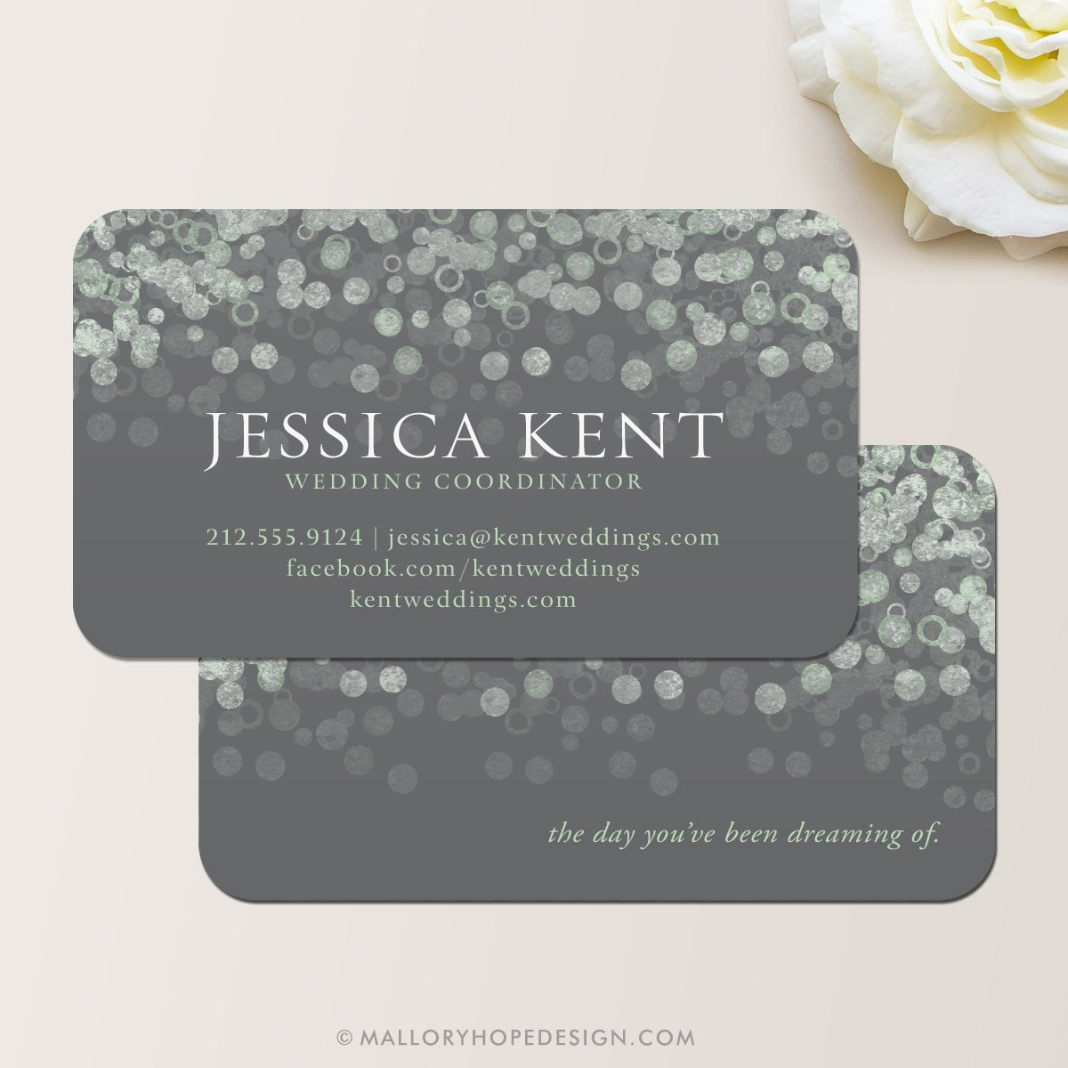 Bubbly Design Co: Champagne Bubbles Business Card / Calling Card / Contact