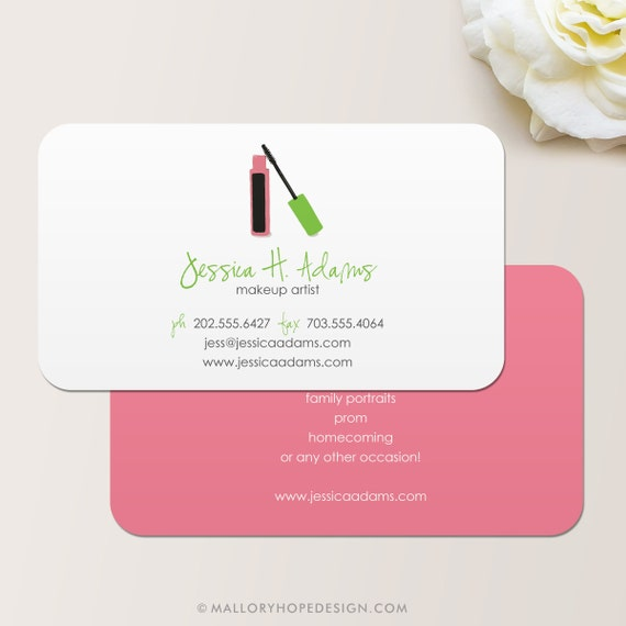 Makeup Artist Business Card Calling Card Mommy Card Etsy